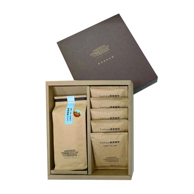 LuGao 鹿篙咖啡禮盒-濾掛5入+水洗中淺焙227g